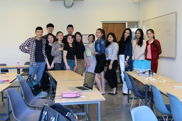 Professor Khokholova and Students at YTIT