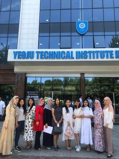 Professor Khokholova with Students at YTIT